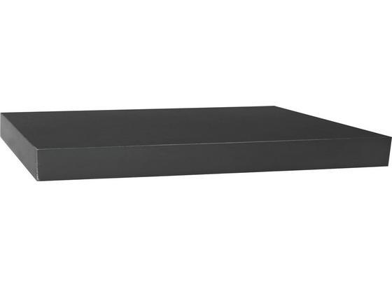 Police Nástěnná Simple 80 - černá, Moderní, kompozitní dřevo (80/3,8/23,5cm)