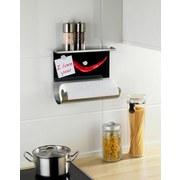 Küchenrollenhalter-memoboard Peperoni Magnetisch - Edelstahlfarben/Rot, MODERN, Glas/Metall (30/26/15cm)