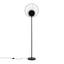 Stojacia Lampa Sun V: 163cm, 60 Watt - čierna, Štýlový, kov (41/163cm) - Modern Living