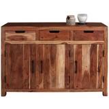 Sideboard Willow - Akaziefarben, MODERN, Holz/Metall (130/85/40cm)