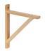 Držiak Na Stenu Olaf 2       -sb- - borovicová, Moderný, drevo (18cm)