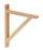 Wandhalter Olaf 2 - Kieferfarben, Design, Holz (18cm)