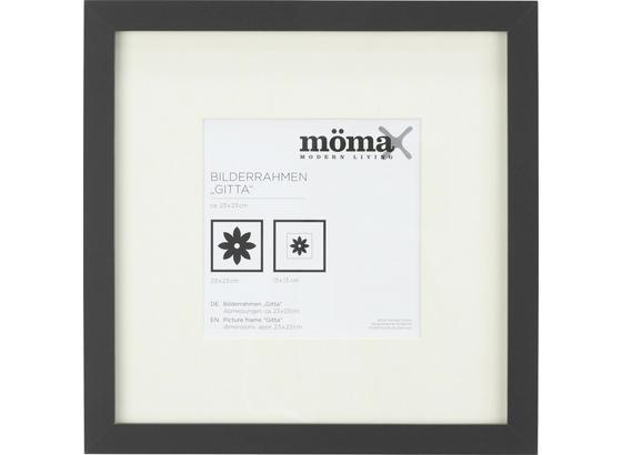 Rám Na Fotky Čierna - čierna, Moderný, kompozitné drevo/sklo (23/23/3,6cm) - Mömax modern living