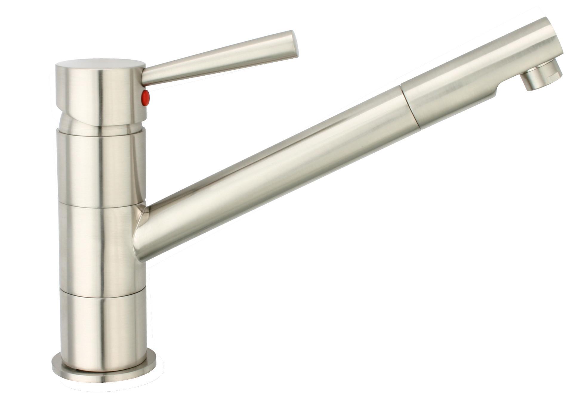 Spültischarmatur Cornwall - Edelstahlfarben, LIFESTYLE, Kunststoff/Metall (18cm)