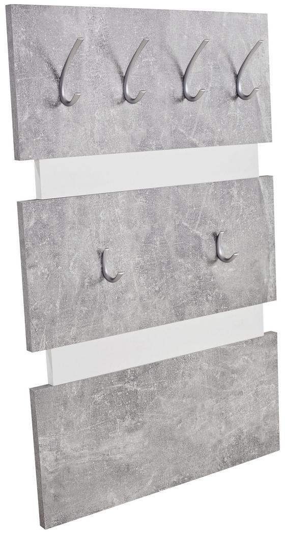 Garderobenpaneel Moya - Szürke/Fehér, modern, Faalapú anyag/Műanyag (70/99/2cm)