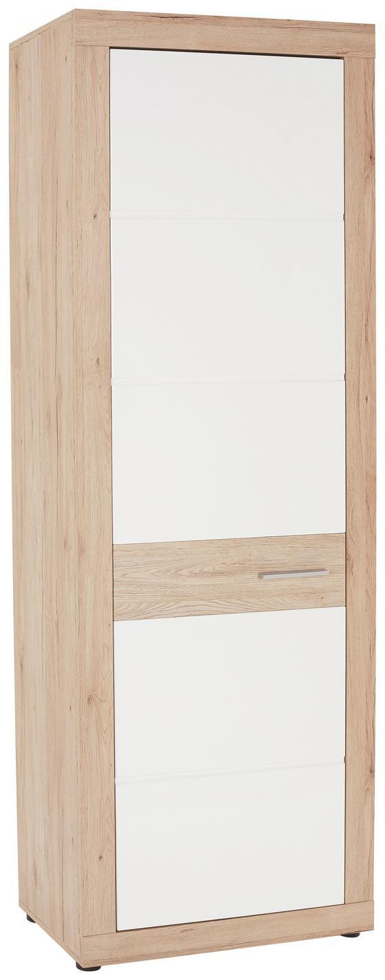 Előszoba Szekrény Malta - Tölgyfa/Fehér, modern, Faalapú anyag (65/196,8/36cm)
