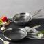 Pánev Gourmet - barvy stříbra, Konvenční, kov (24/4,7cm) - Premium Living