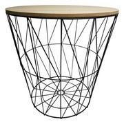 Beistelltisch mit Abnehmbarer Tischplatte Tom Natur/Metall - Schwarz/Naturfarben, MODERN, Holzwerkstoff/Metall (35,5/39/35,5cm) - Homezone