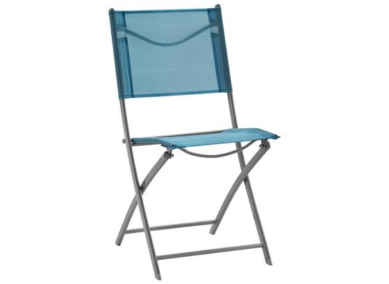 Zahradní Židle Modrá - modrá/barvy chromu, kov/textil (43/83/53cm) - Mömax modern living