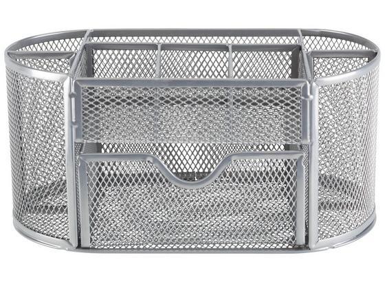 Stojánek Na Tužky Mesh -sb- - šedá, Moderní, kov (22,3/10,5/11cm) - Mömax modern living