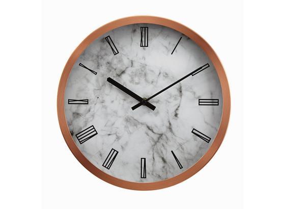 Hodiny Nástěnné Sally - šedá/bílá, kov/sklo (30,5cm) - Mömax modern living