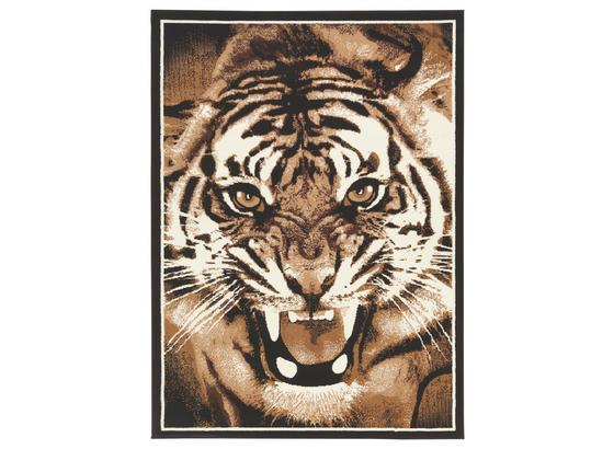 Webteppich Tiger 160x225 cm - Braun, KONVENTIONELL, Textil (160/225cm) - Ombra