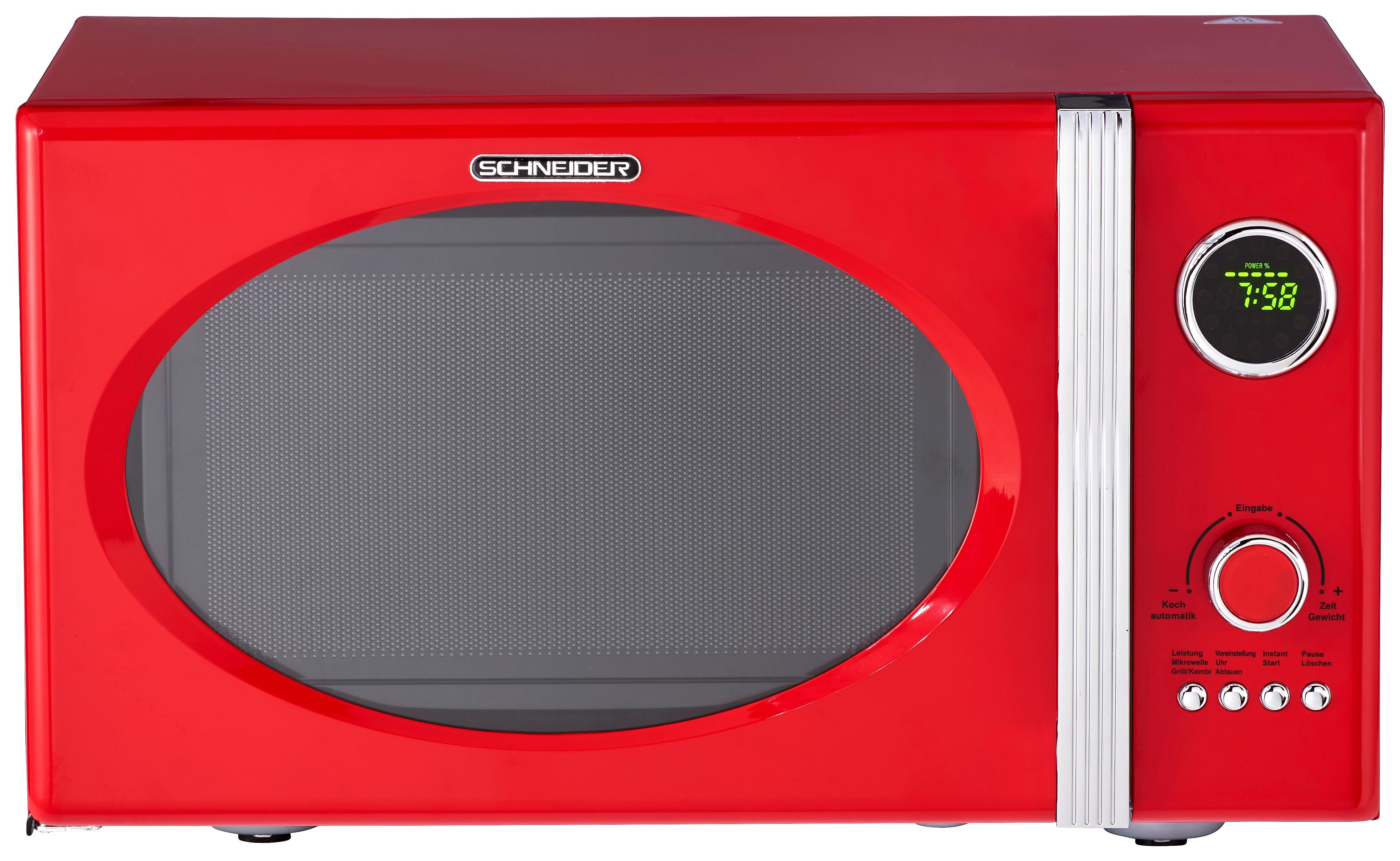 Mikrowelle in knalligem Rot online kaufen