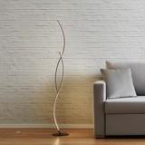 Stojacia Lampa Zara S Led - strieborná, Moderný, kov (21/145/21cm) - Modern Living