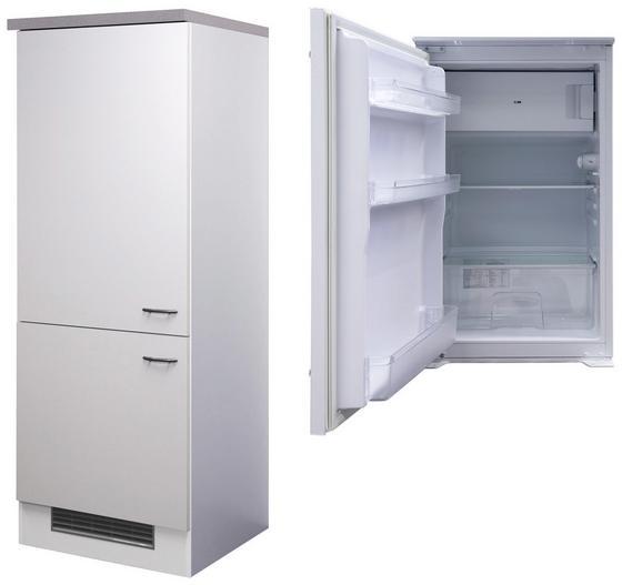 Geräteumbauschrank Wito 60 cm Weiß - Edelstahlfarben/Weiß, MODERN, Holzwerkstoff (60/162/60cm)