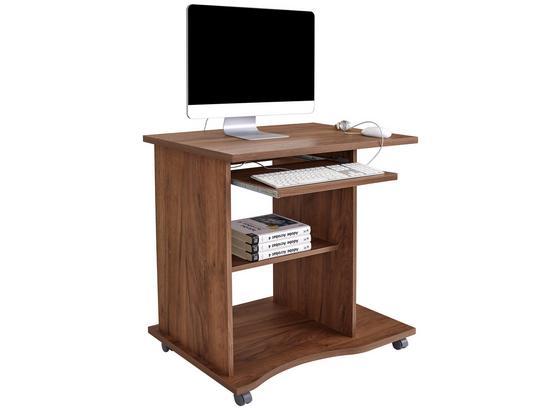 Psací Stůl Olin - tmavě hnědá, Moderní, kompozitní dřevo (78/75/50cm)