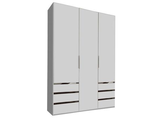 Drehtürenschrank Level 36a B:150cm Alpinweiß Dekor - Weiß, MODERN, Holzwerkstoff (150/216/58cm)