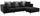 Wohnlandschaft in L-Form Preston 280x162 cm - Chromfarben/Dunkelgrau, MODERN, Textil (280/162cm)