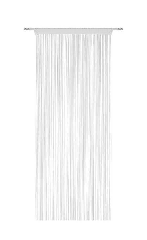 Nitkový Záves Cenový Trhák - biela, Konvenčný, textil (90 200 cm) - Based