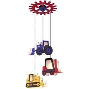 Hängeleuchte Toolies H: 120 cm Baufahrzeuge Bunt - Multicolor, Basics, Holz/Kunststoff (55/120cm)