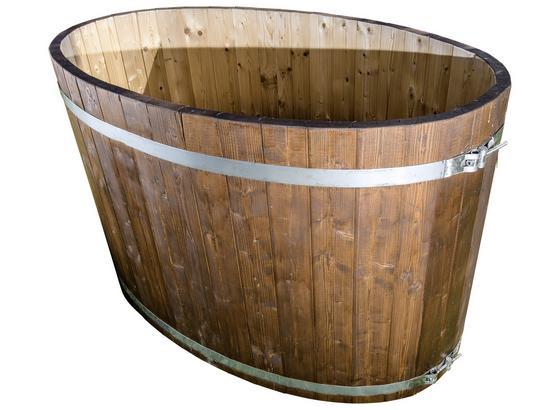 Badezuber Oval 150x85x100 cm - Naturfarben, KONVENTIONELL, Holz (150/85/100cm)