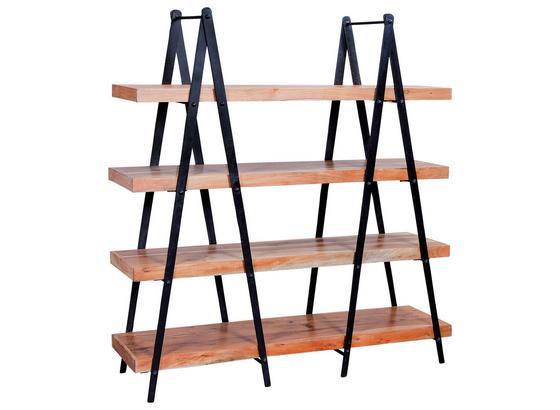 Standregal Celbridge B:140cm Akaziefarben - Schwarz/Akaziefarben, Basics, Holz/Metall (140/146/40cm) - Livetastic