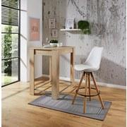Barhocker Levi Weiß - Naturfarben/Weiß, MODERN, Holz/Kunststoff (48,5/111,5/55cm) - Ombra