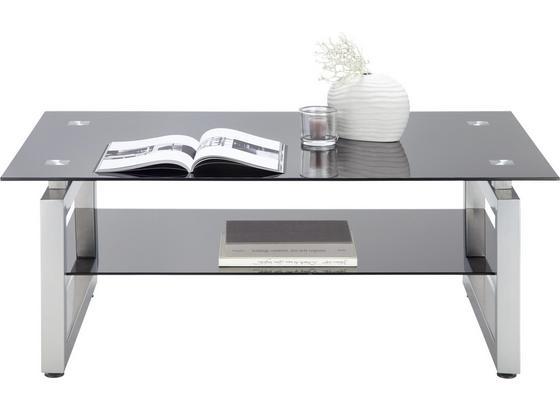 Konferenční Stolek Nevada - černá/barvy chromu, Moderní, kov/sklo (118/46/78cm) - Mömax modern living