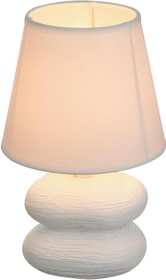 Tischleuchte Lily - Weiß, ROMANTIK / LANDHAUS, Keramik/Textil (15/22cm) - James Wood