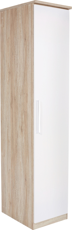 Ruhásszekrény Wien - tölgy színű/fehér, konvencionális, faanyagok (47/212/56cm)