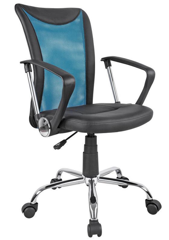 Otočná Židle Vanessa - petrolej/černá, Moderní, kov/textilie (47/88,5-98,50/54cm)