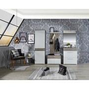 Šatní Panel Monza New - bílá/barvy dubu, Moderní, kompozitní dřevo (80/146/23cm)