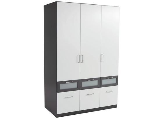 Skříň Šatní Nagold-extra - šedá/bílá, Konvenční, kompozitní dřevo (136/197/54cm)