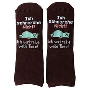 Socken Tiere - Dunkelbraun, Textil (41-46null)