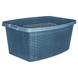 Wäschekorb Rattan 40 Liter - Blau, KONVENTIONELL, Kunststoff (56/39/22cm) - PLAST 1