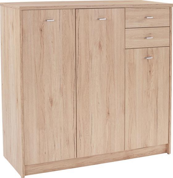 Komoda 4-you Yuk09 - barvy dubu, Moderní, dřevěný materiál (109,1/111,4/34,6cm)
