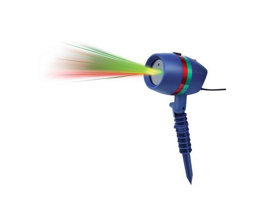Laserstrahler Star Shower Motion inkl. Fernbedienung - Blau/Rot, KONVENTIONELL, Kunststoff (12/17/15cm) - Mediashop