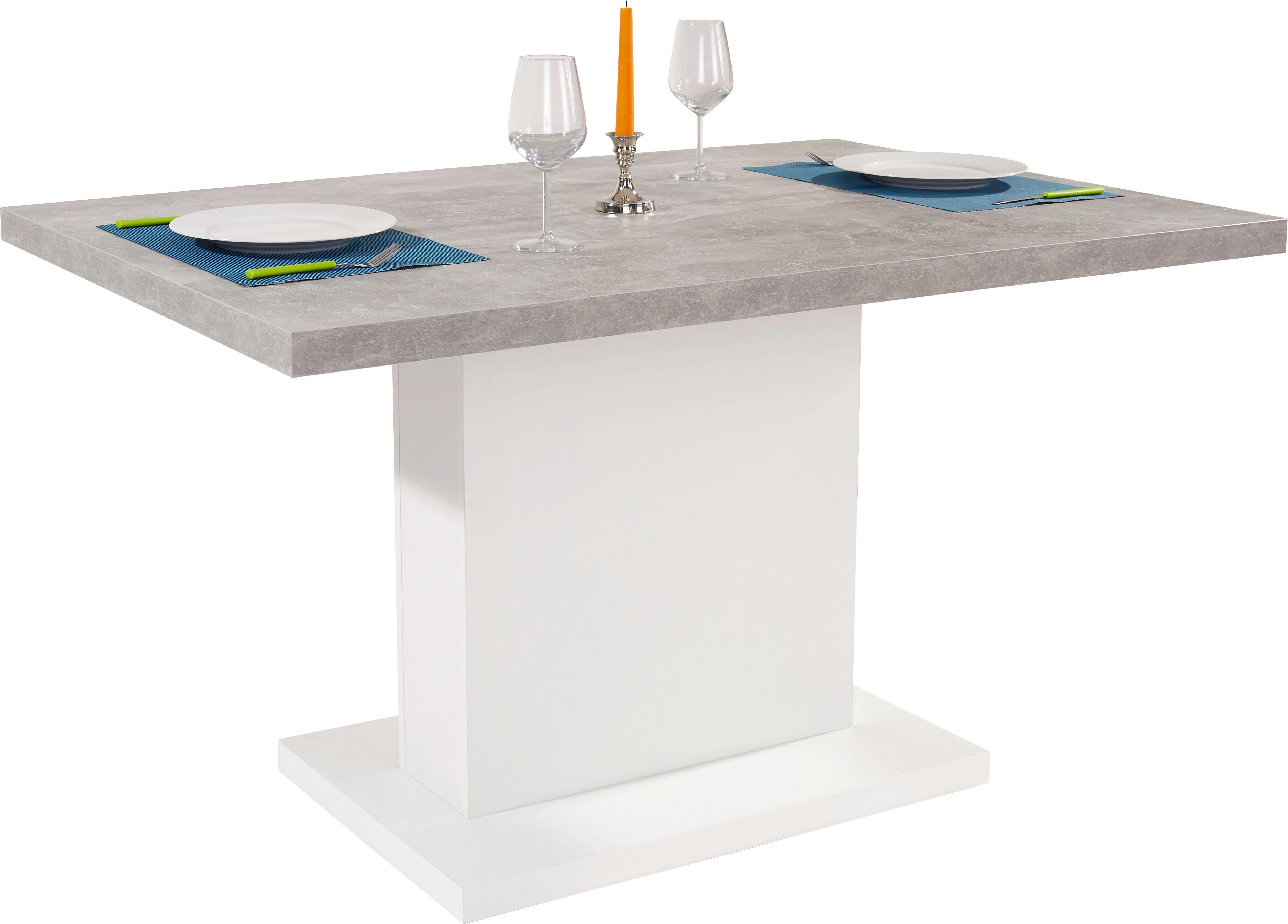 Esstisch modern weiß  Esstisch Madrid 138 cm online kaufen ➤ Möbelix