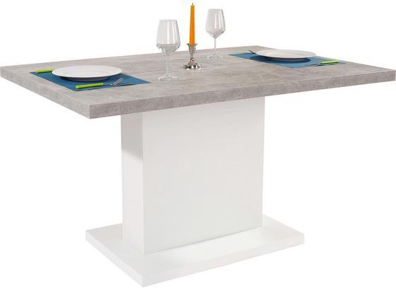 Esstisch madrid 138cm beton wei online kaufen m belix for Esstisch grau weiss