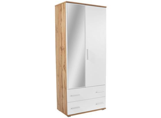 Skrinka Na Topánky Es 20 - 2 - farby dubu/biela, Moderný, kompozitné drevo (90/192/36cm)