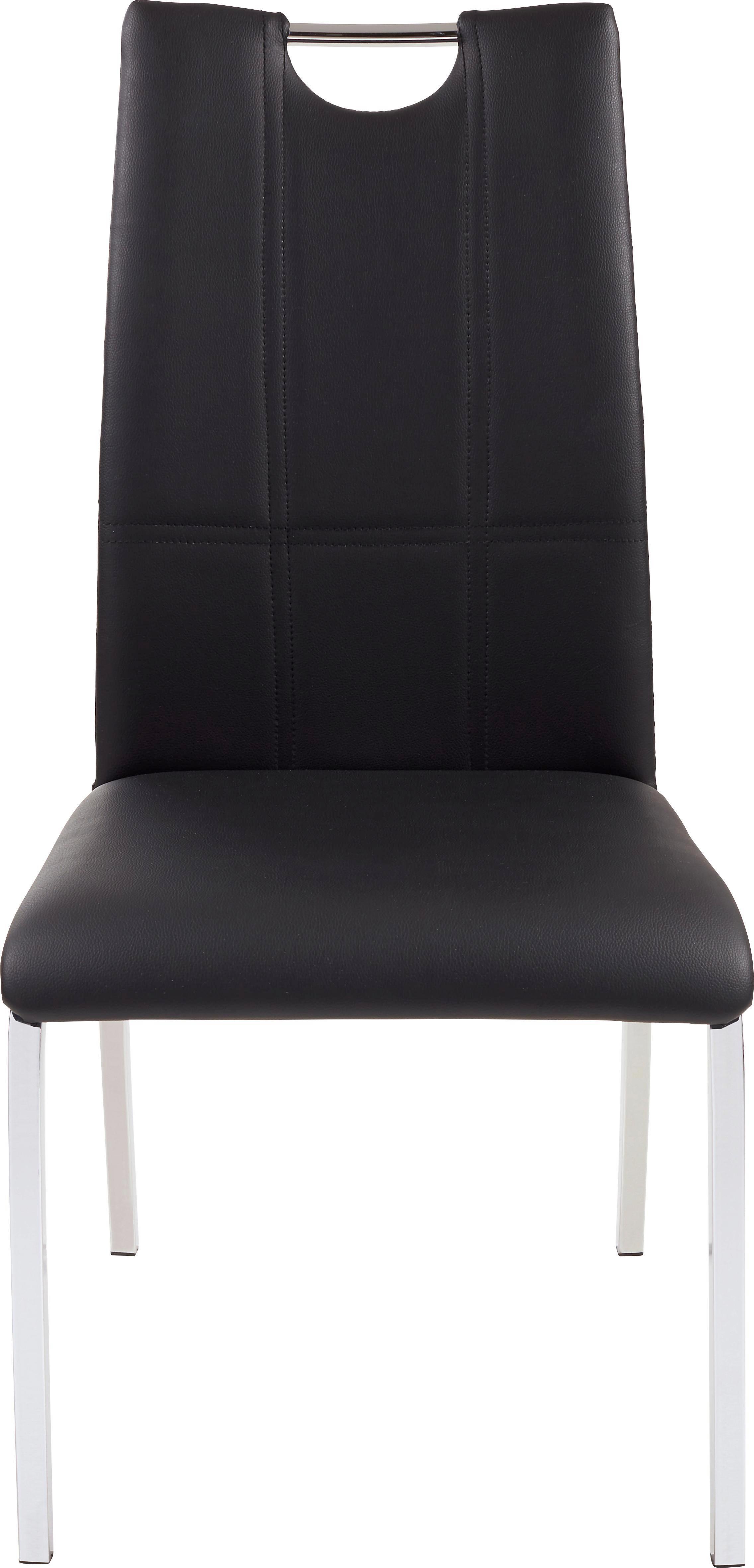 Szék Mandy - krómszínű/fekete, modern, textil/fém (42/96/56cm)