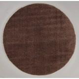 Hochflorteppich Nobel Micro 120 Rund - Braun, MODERN, Textil (120cm)