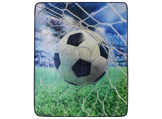 Kuscheldecke Fussball - Multicolor, MODERN, Textil (130/160cm)