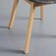 Jedálenská Stolička Nora - sivá/farby buku, Moderný, drevo/textil (52/78/55cm) - Modern Living