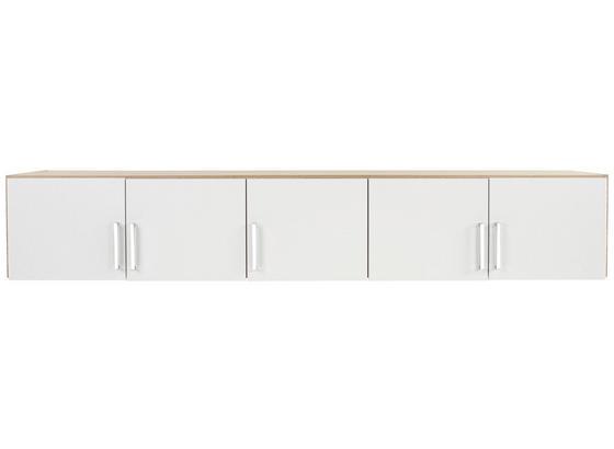Aufsatzschrank Wien02 B:226cm Weiß/ San Remo Eiche Dekor - Eichefarben/Weiß, KONVENTIONELL, Holzwerkstoff (226/39/54cm)