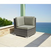 Greemotion Loungegarnitur Malibu - Braun/Grau, MODERN, Kunststoff/Metall (194/272/218cm) - GREEMOTION