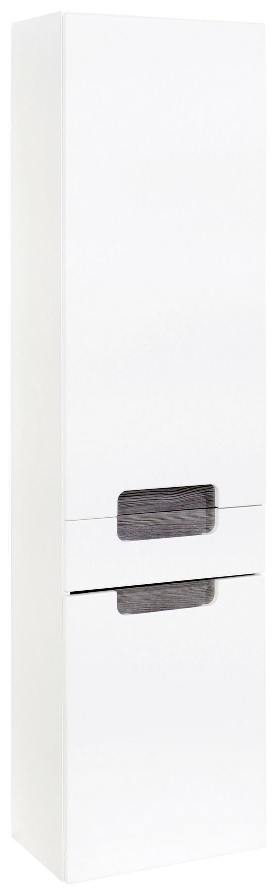 Hochschrank Siena 40cm Weiß/eiche - Weiß, MODERN, Holzwerkstoff (40/154/27cm)