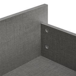 Bettaufbau in Grau