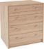 Komoda 4-you Yuk06 - barvy dubu, Moderní, kompozitní dřevo (74/85,4/44,3cm)