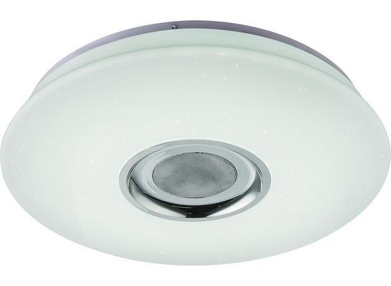 LED-Deckenleuchte Regina - Chromfarben/Weiß, Basics, Kunststoff/Metall (40/70cm) - Luca Bessoni